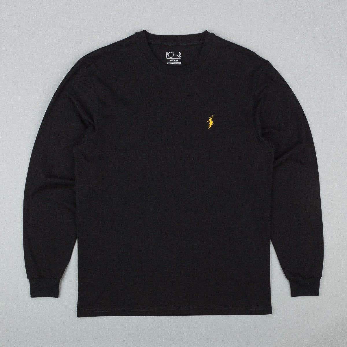 Polar No Comply Longsleeve T-Shirt - Black / Yellow