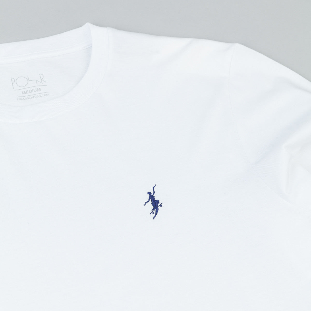 Polar No Comply Long Sleeve T-Shirt - White / Navy