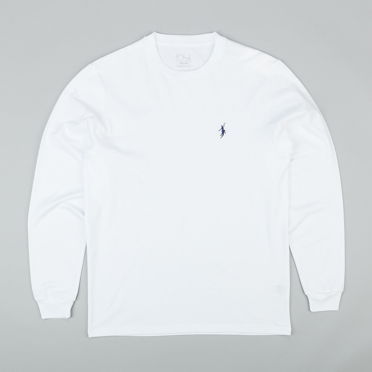 Polar No Comply Longsleeve T-Shirt - White / Navy