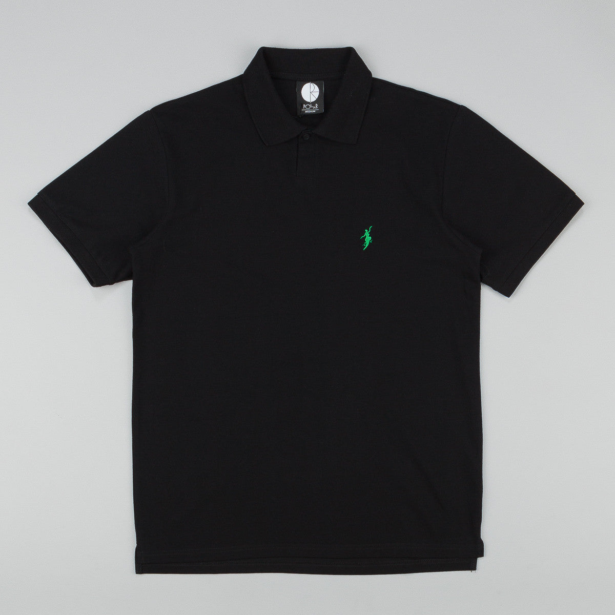 Polar No Comply Pike Polo Shirt - Black / Green