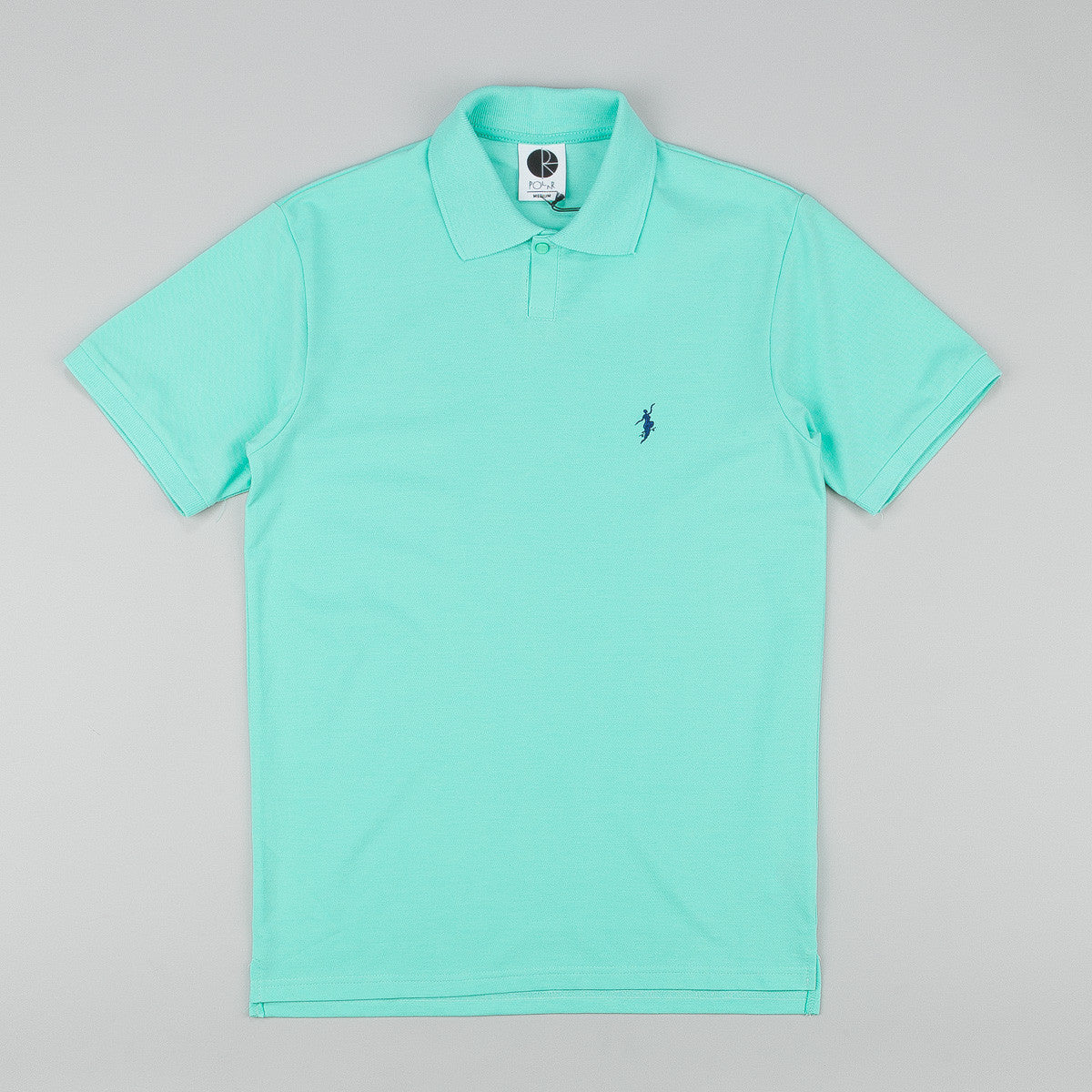 Polar No Comply Pike Polo Shirt - Pastel Green / Navy