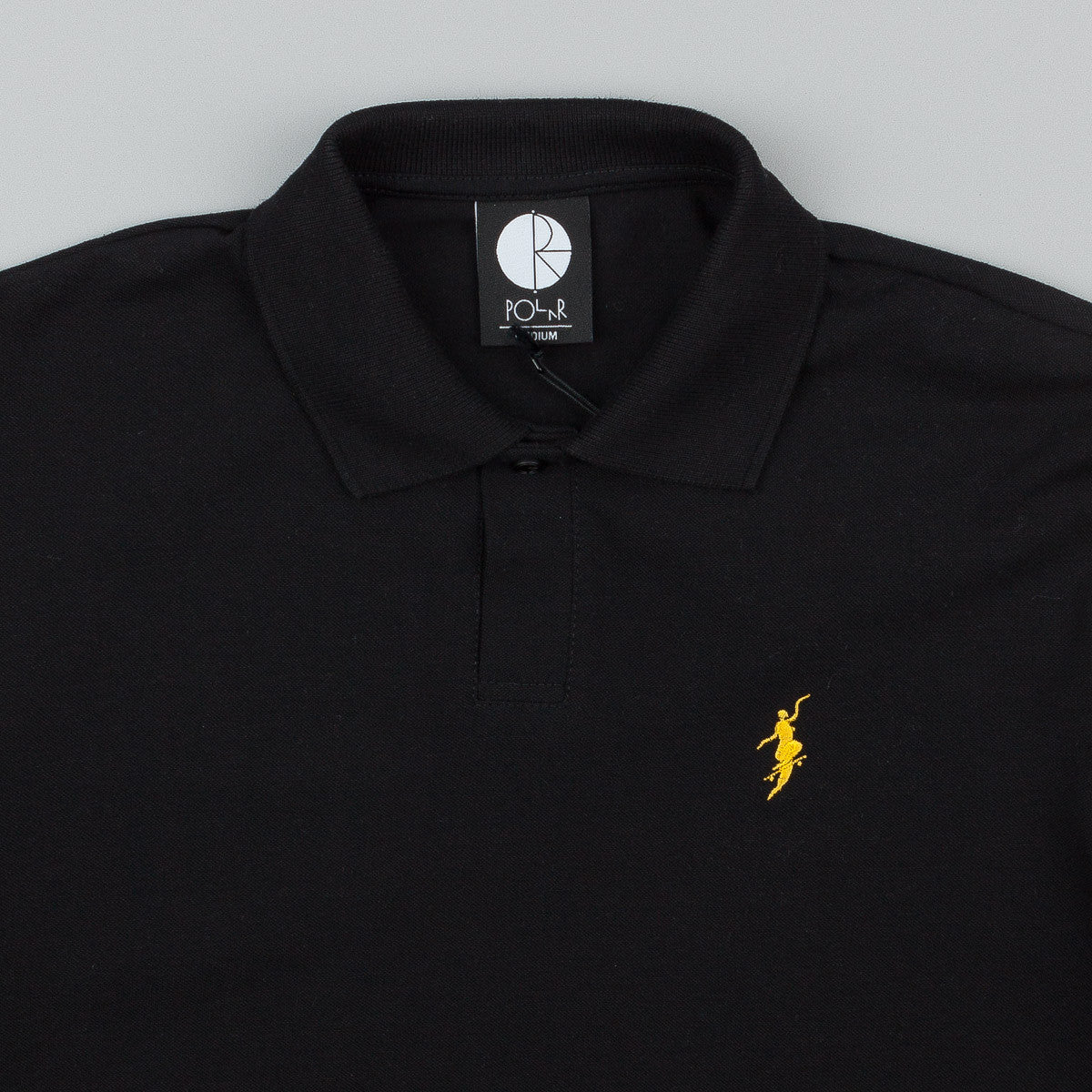 Polar No Comply Pique Shirt - Black / Yellow