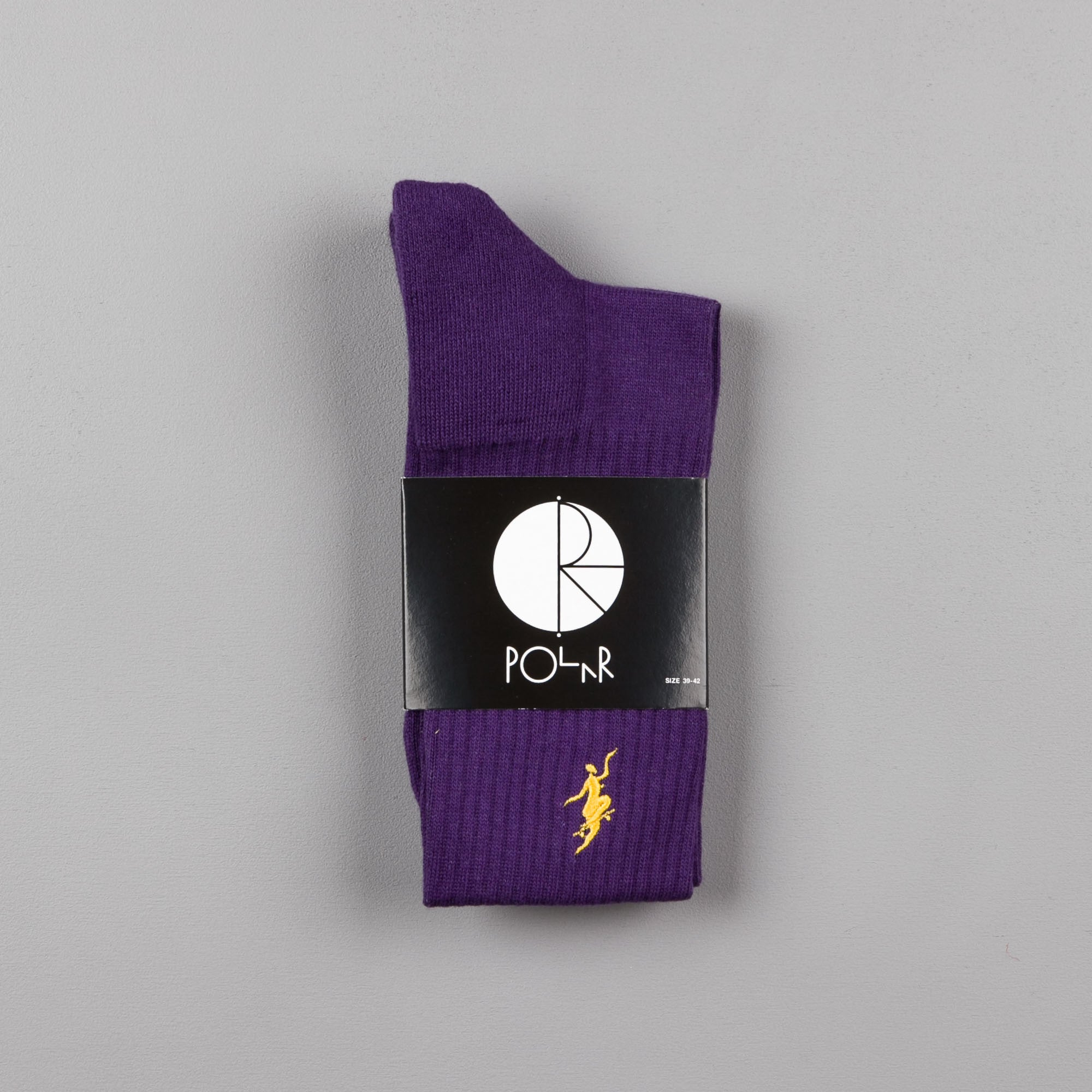 Polar No Comply Sport Socks - Purple / Yellow