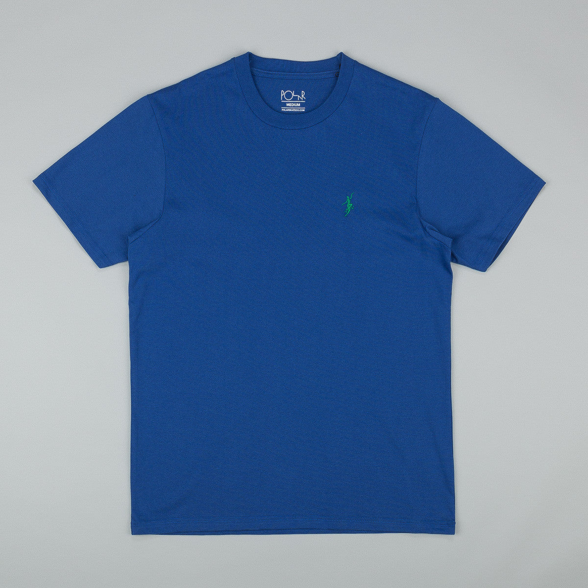 Polar No Comply T-Shirt - Klein Blue / White
