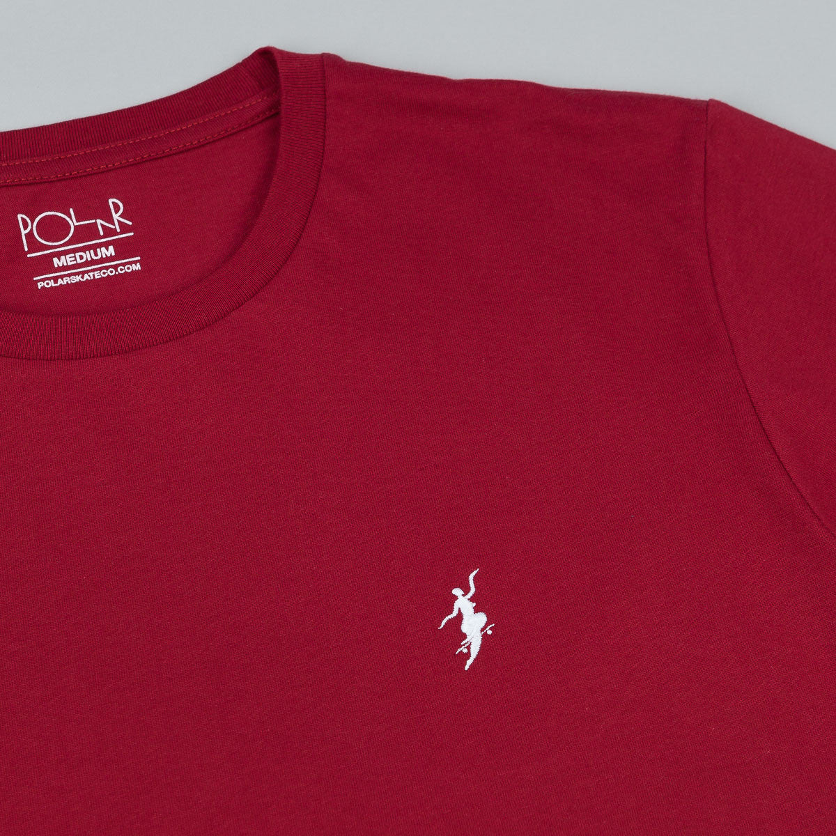 Polar No Comply T-Shirt - Red Wine / White
