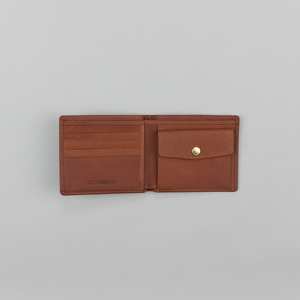 Polar No Comply Wallet - Brown / Gold