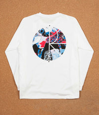 Polar Orchid Fill Logo Long Sleeve T-Shirt - White