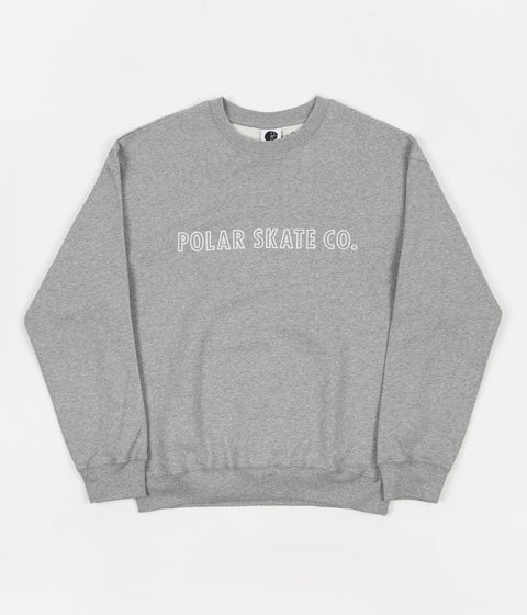 Polar Outline Crewneck Sweatshirt - Heather Grey