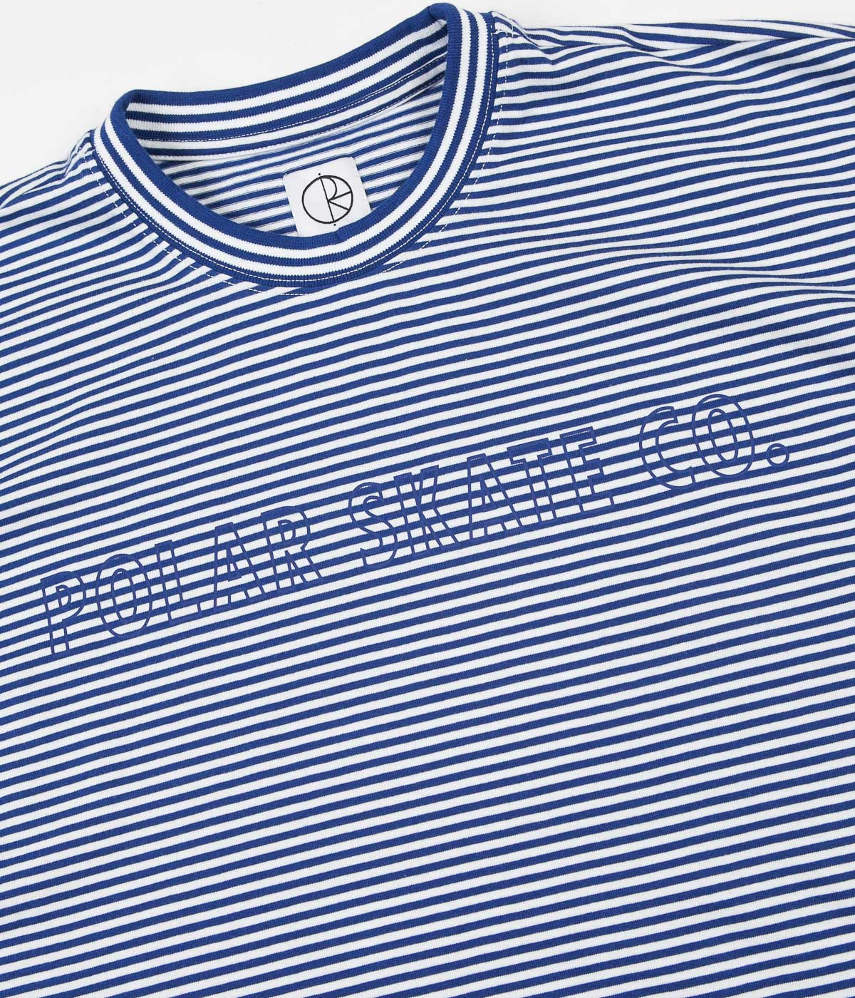 Polar Outline Stripe T-Shirt - Dark Blue