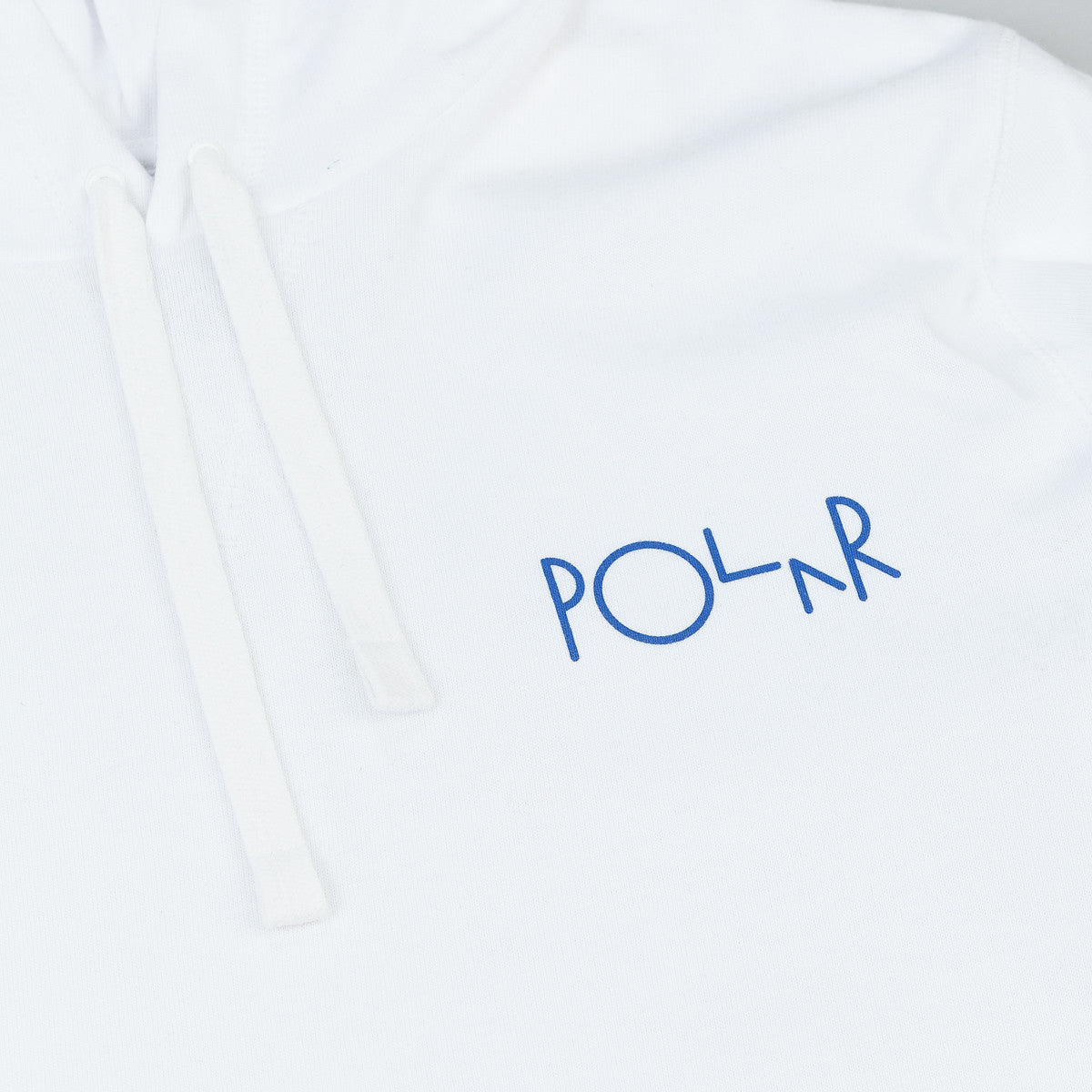 Polar Patch Hooded Sweatshirt - White / Navy