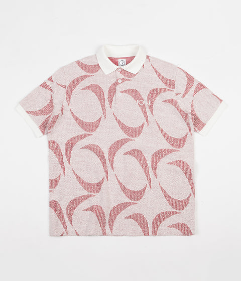 Polar Patterned Polo Shirt - Ivory / Red