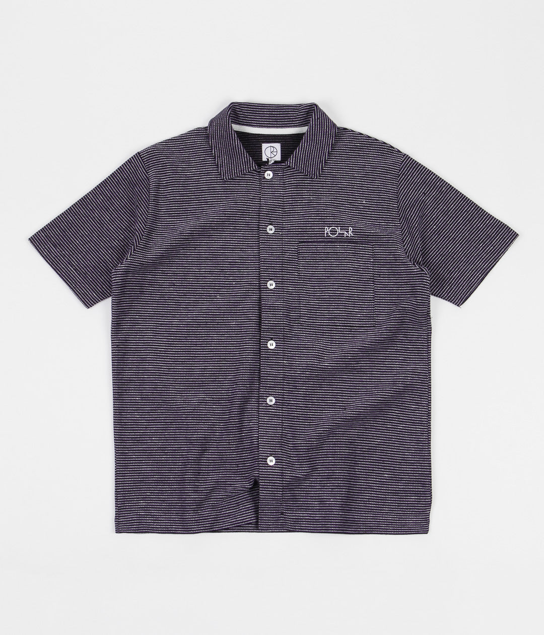 Polar Patterned Shirt - Stripe - Black / Purple