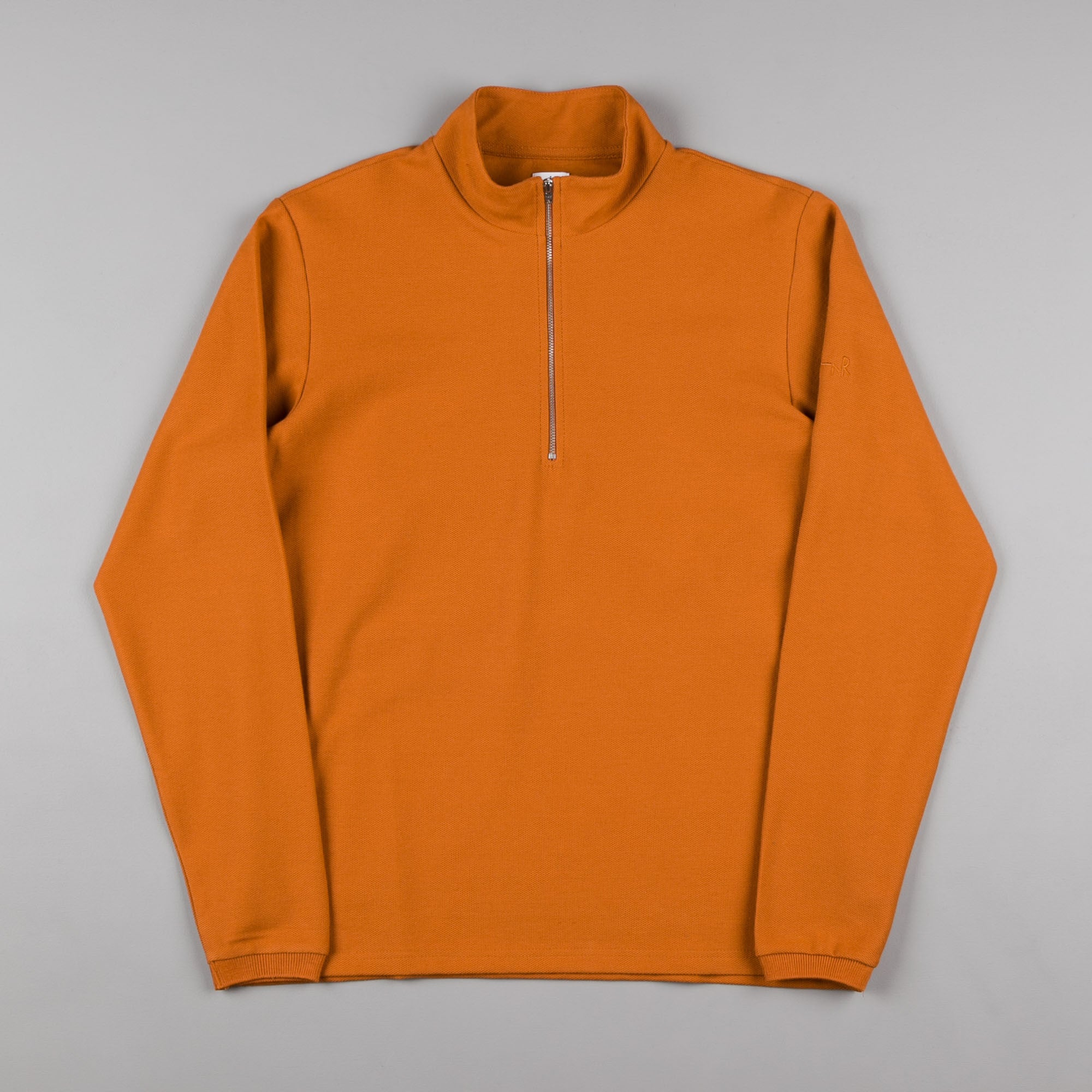 Polar Pique Zip Neck Shirt - Caramel