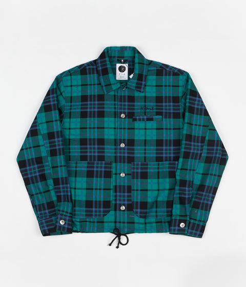 Polar Plaid Work Jacket - Peppermint
