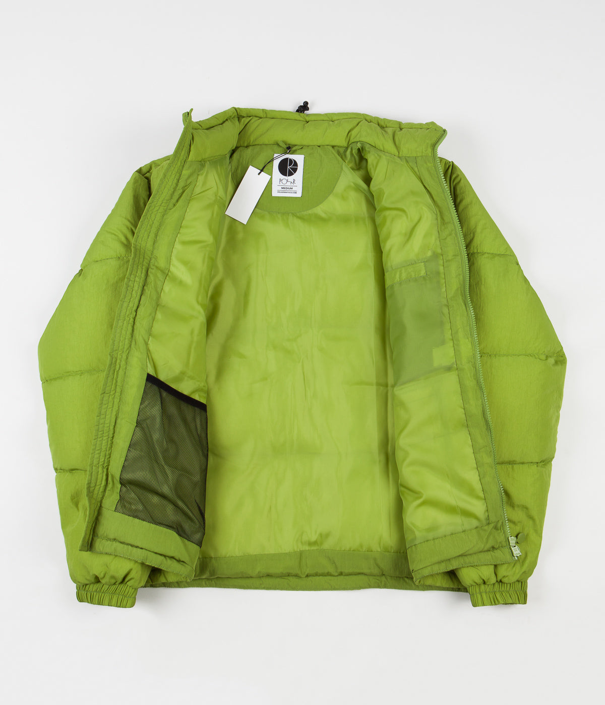 Polar Pocket Puffer Jacket - Parrot Green