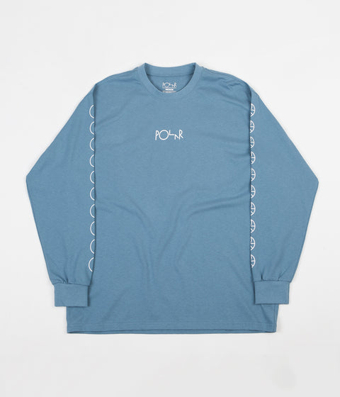 Polar Racing Long Sleeve T-Shirt - Grey Blue
