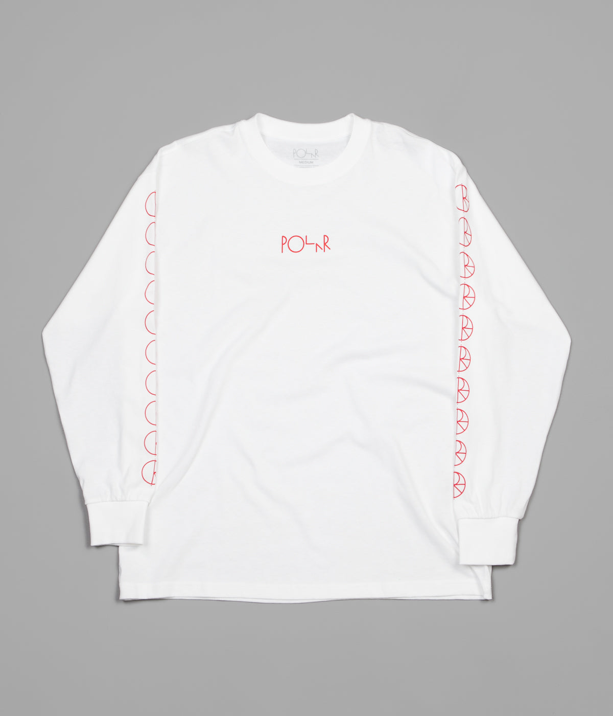 Polar Racing Long Sleeve T-Shirt - White / Red