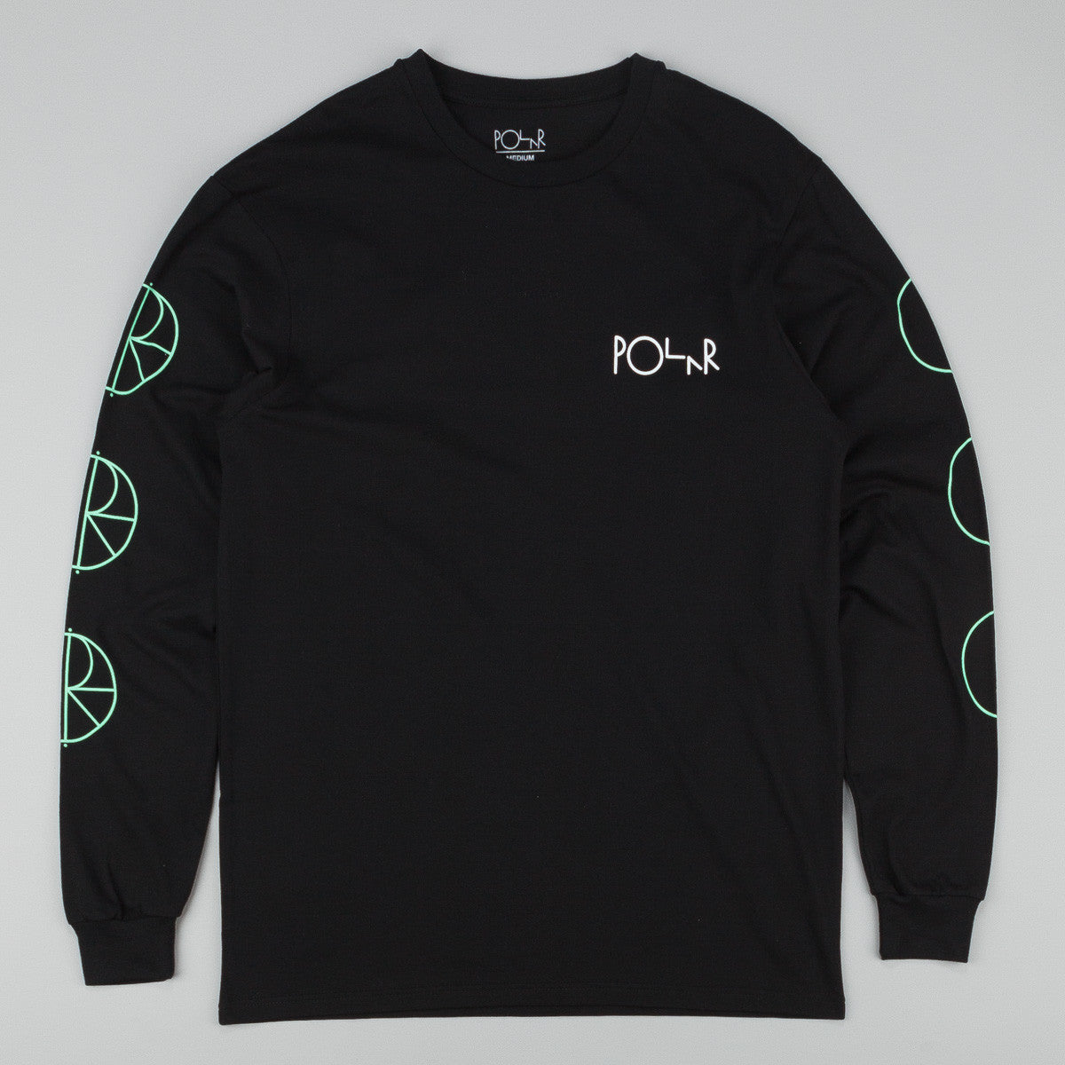 Polar Racing Longsleeve T-Shirt - Black / Mint / White