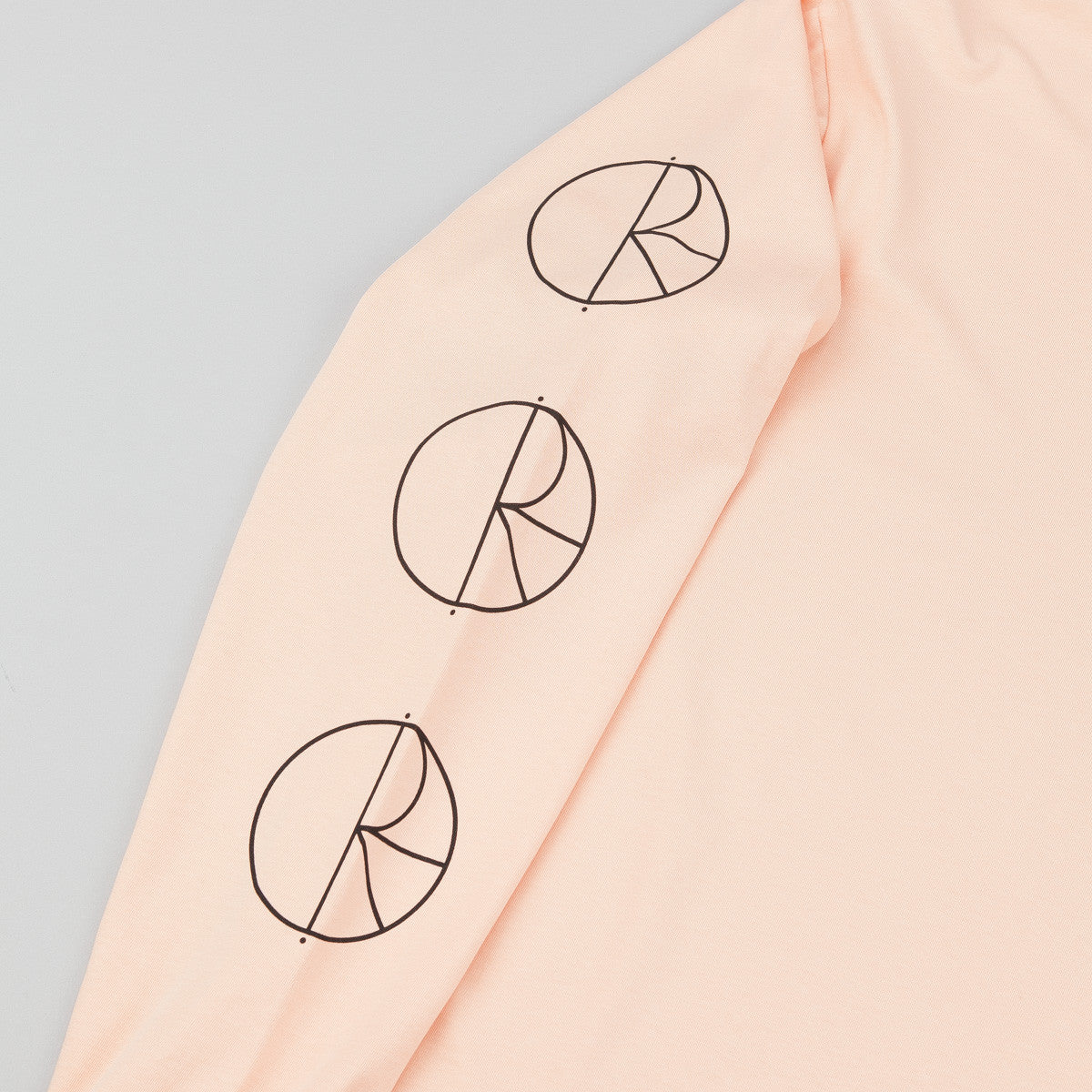 Polar Racing Longsleeve T-Shirt - Pastel Peach / Black / Black