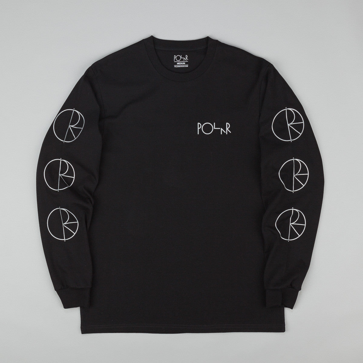 Polar Reflective Long Sleeve T-Shirt - Black / Reflective Silver