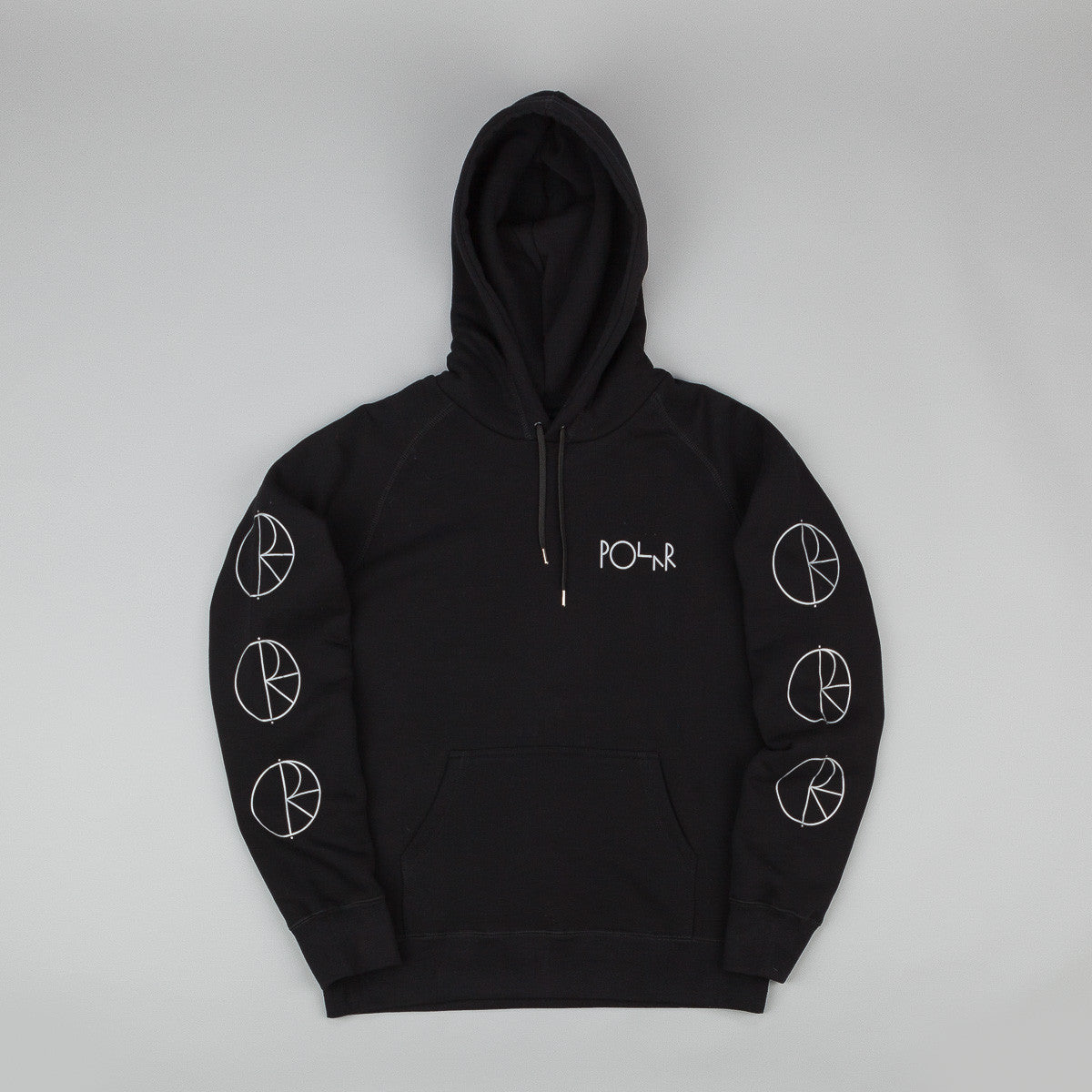 Polar Racing Hooded Sweatshirt - Black / Reflective Silver
