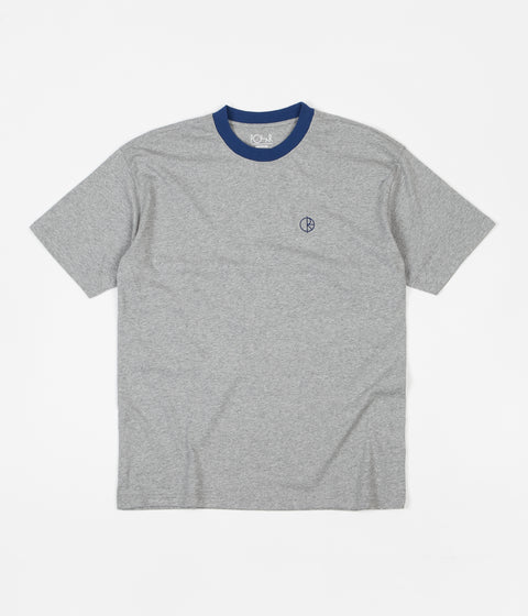 Polar Ringer T-Shirt - Heather Grey / Navy