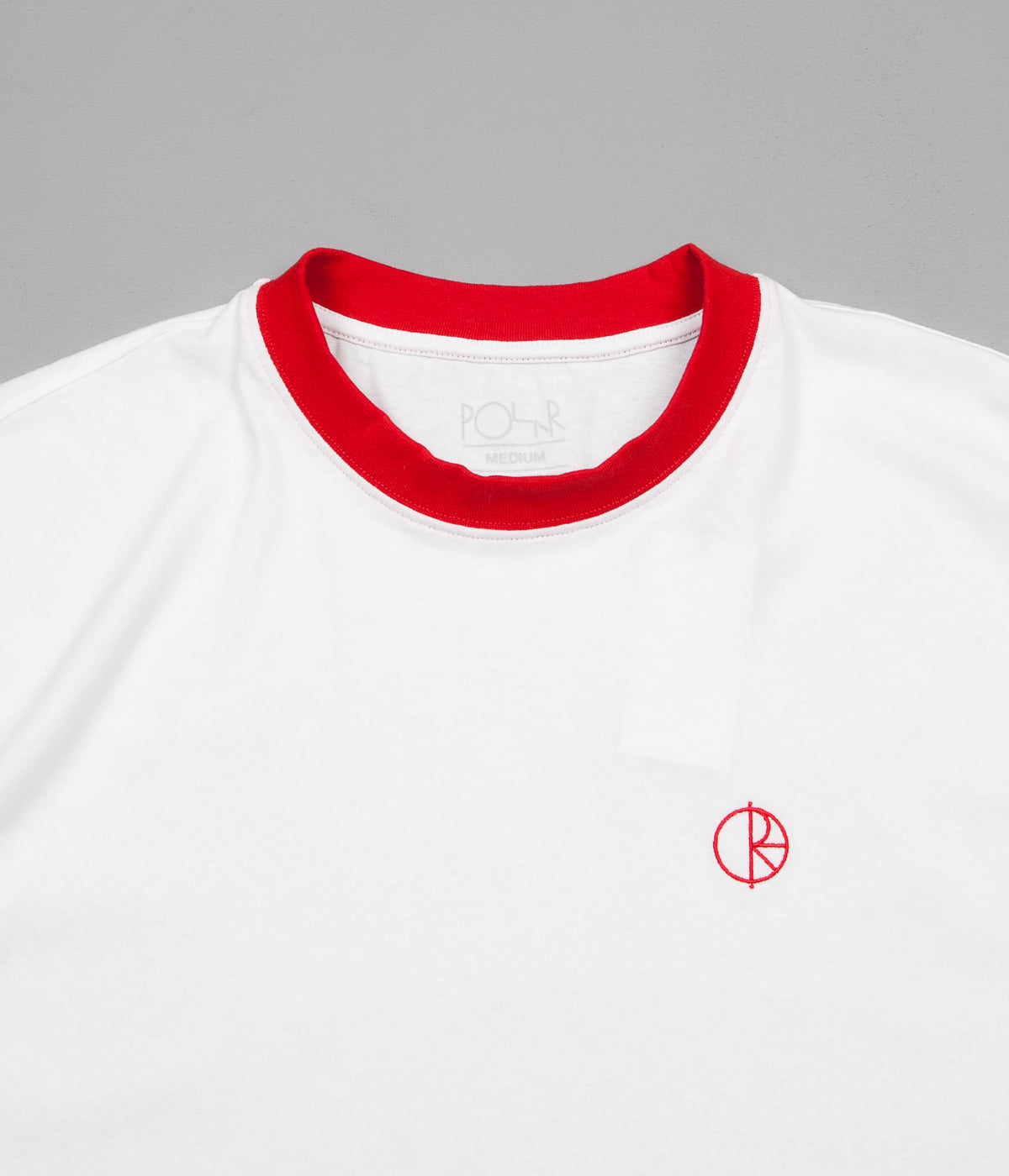 Polar Ringer T-Shirt - White / Red