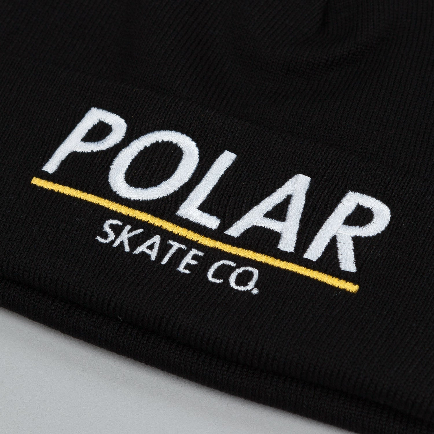 Polar Script Logo Beanie Black / White - Orange