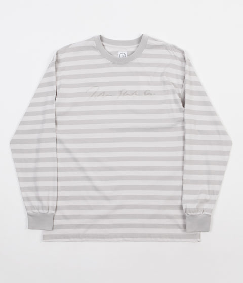 Polar Signature Striped Long Sleeve T-Shirt - Grey