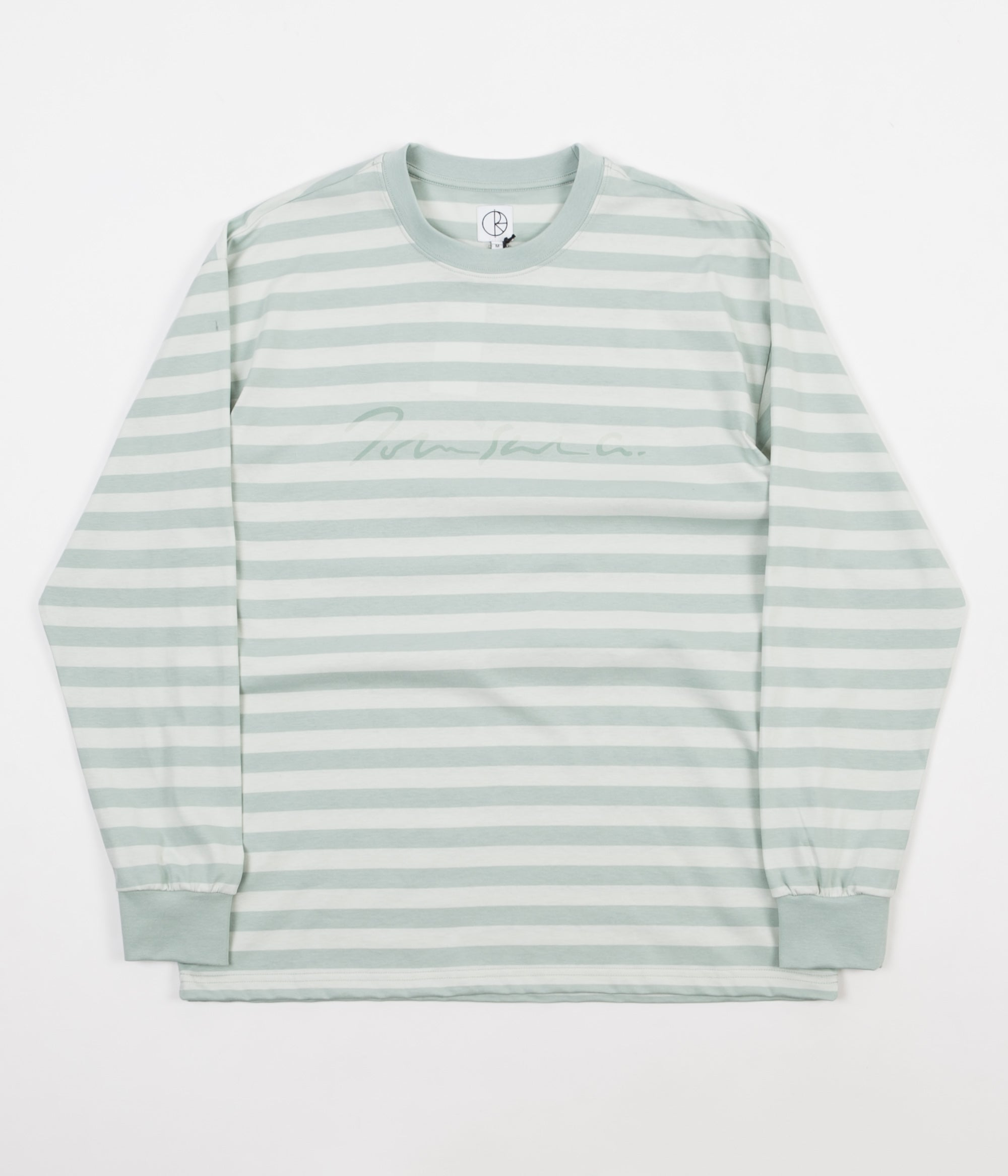 f94b7d0e1f Polar Signature Striped Long Sleeve T-Shirt - Stone Blue | Flatspot