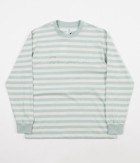 Polar Signature Striped Long Sleeve T-Shirt - Stone Blue