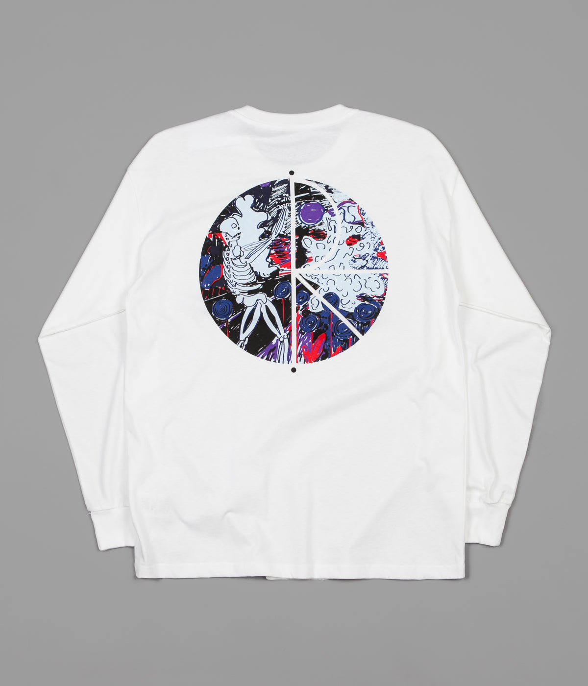 Polar Skeleton Fill Logo Long Sleeve T-Shirt - White