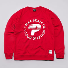 Polar Speedy P Crew Sweatshirt Red