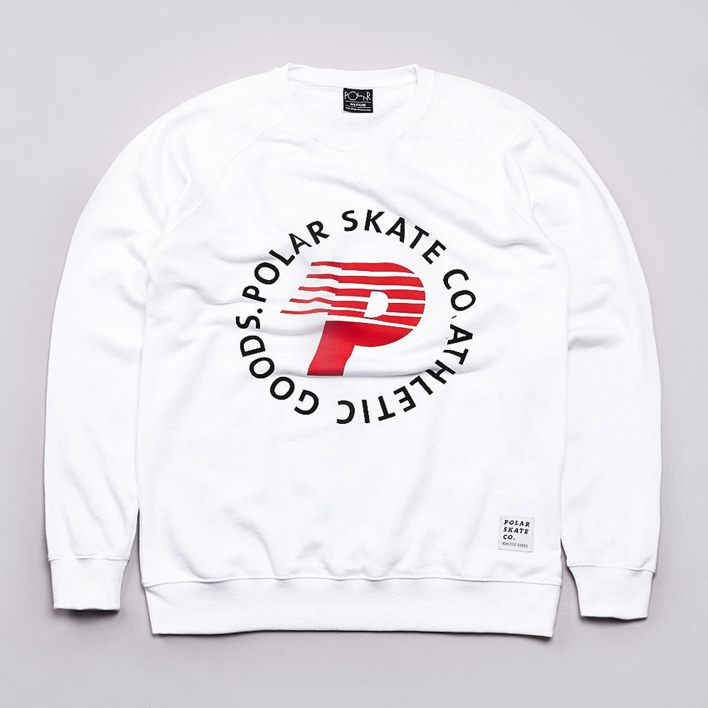 Polar Speedy P Crew Sweatshirt White