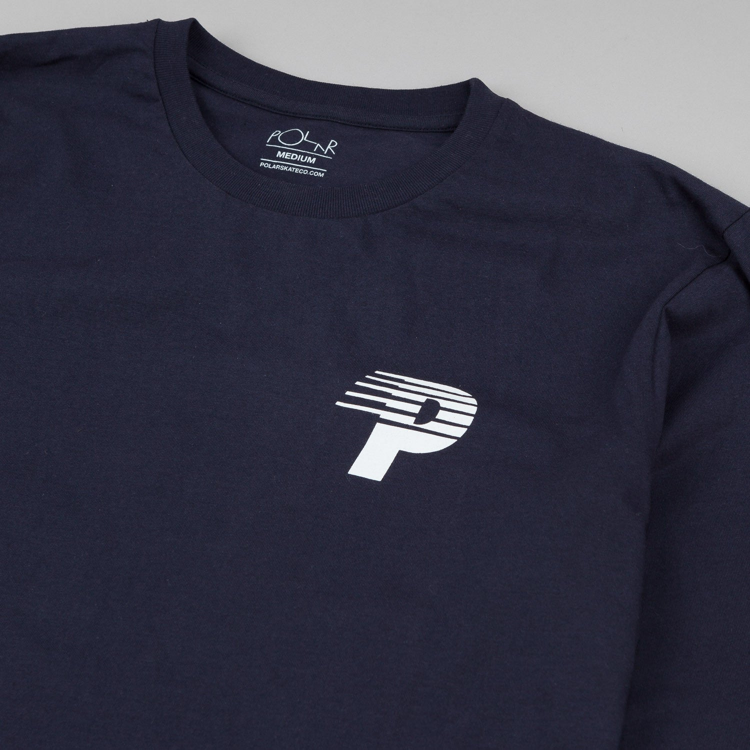 Polar Speedy-P Racing Arm & Chest Print Long Sleeve T-Shirt Navy