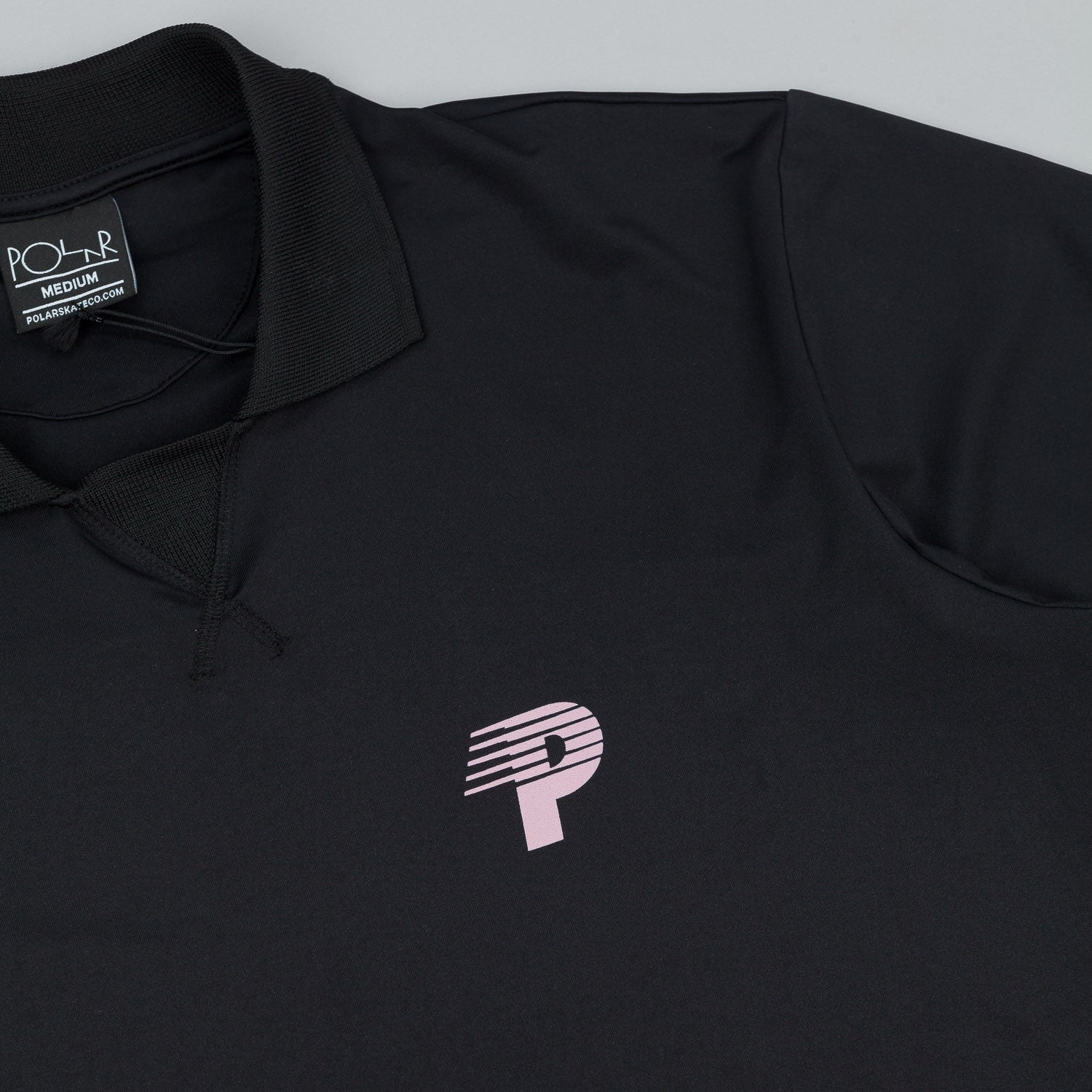 Polar Speedy P Short Sleeve Coach Jersey - Black / Pink