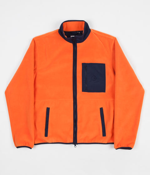 Polar Stenstrom Fleece Jacket - Orange / Navy
