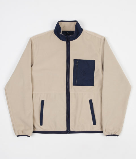 Polar Stenstrom Fleece Jacket - Sand / Navy
