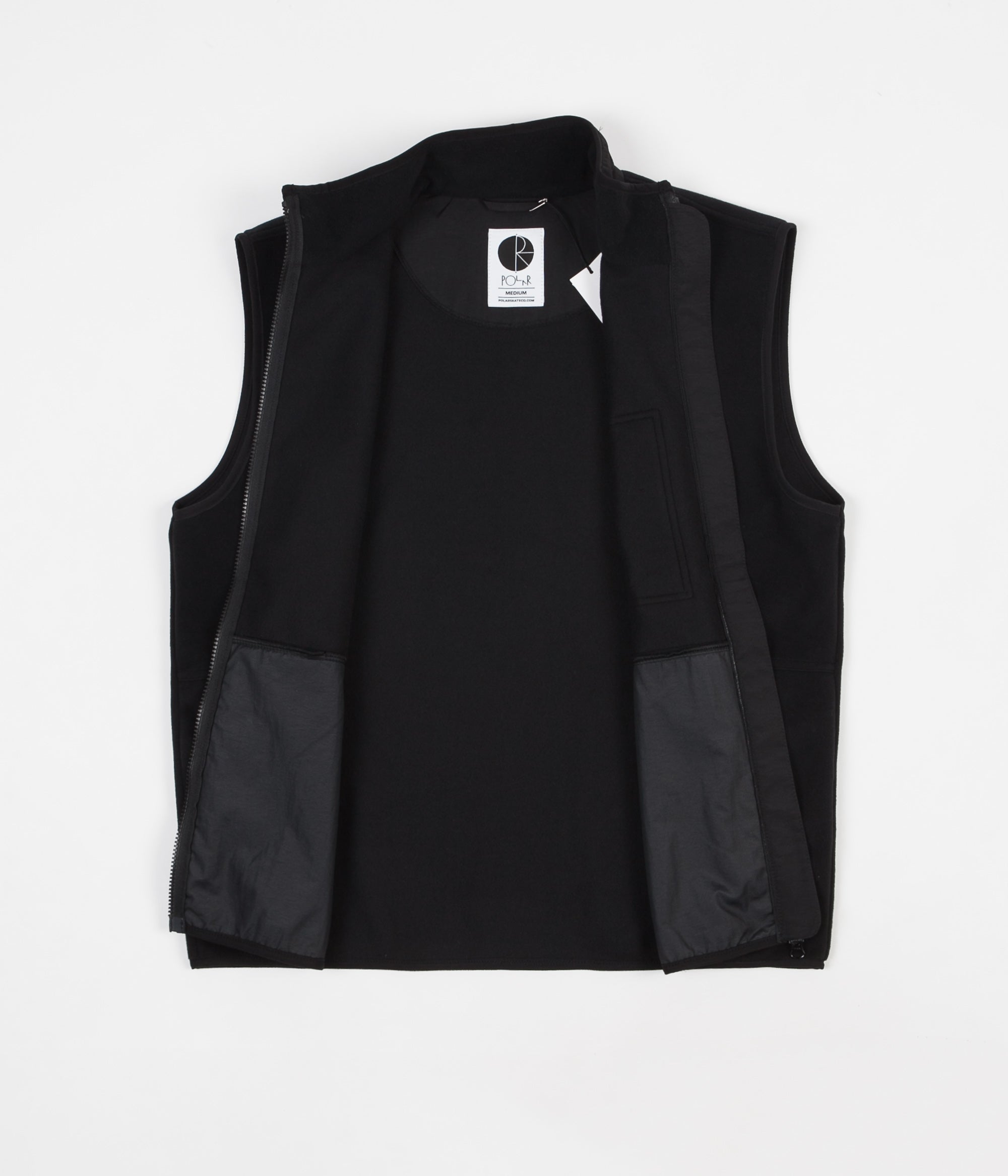 Polar Stenstrom Fleece Vest - Black / Black