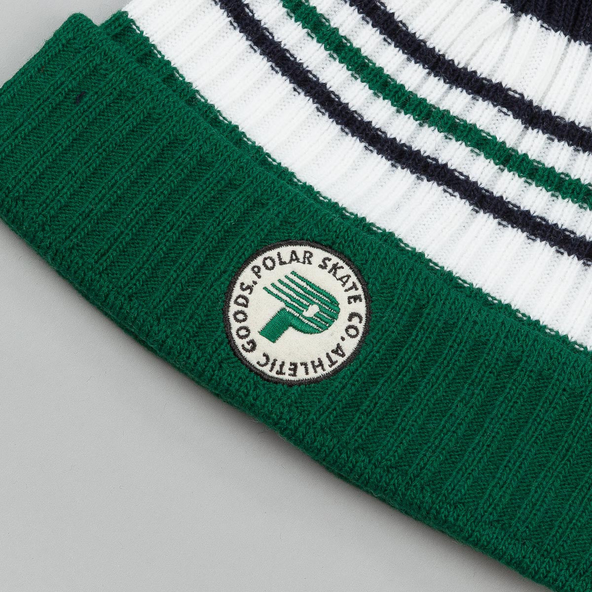 Polar Stripe Beanie - Green