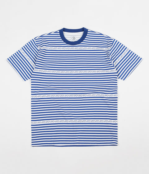 Polar Stripe Logo T-Shirt - Dark Blue