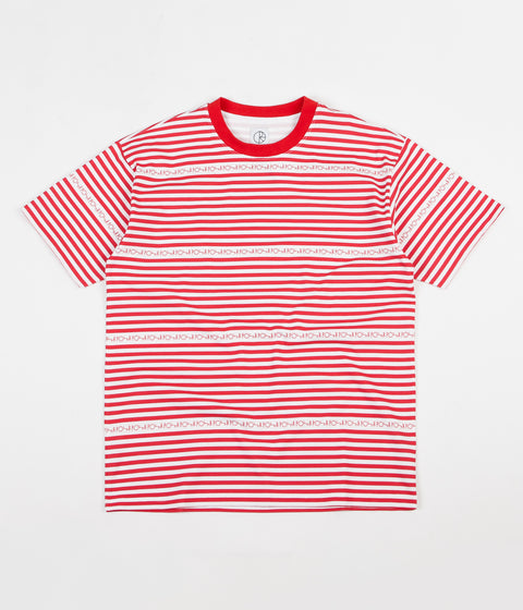 Polar Stripe Logo T-Shirt - Red