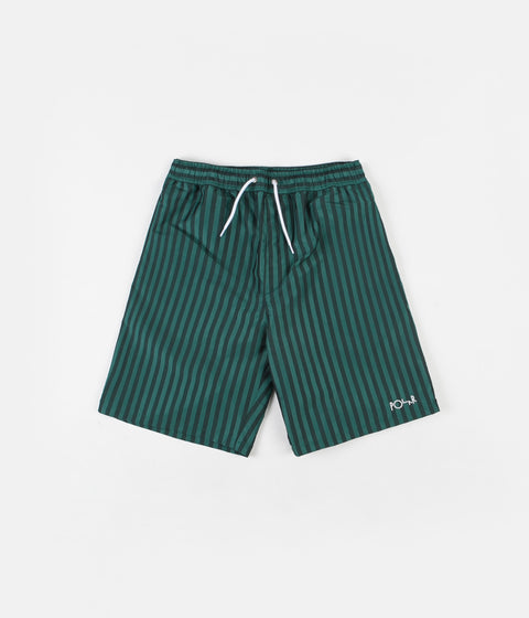 Polar Stripe Swim Shorts - Dark Green