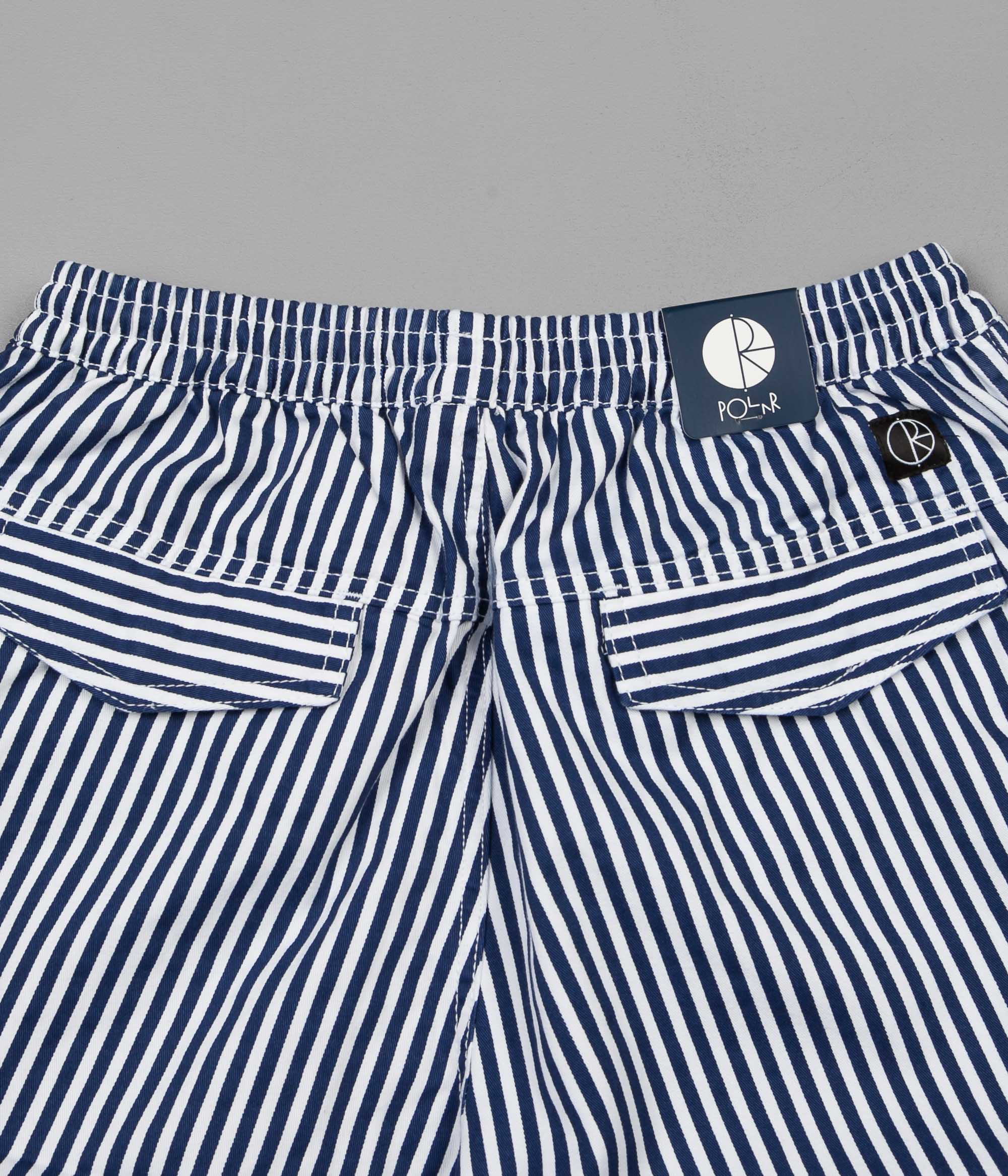 Polar Striped Cargo Trousers - White / Navy