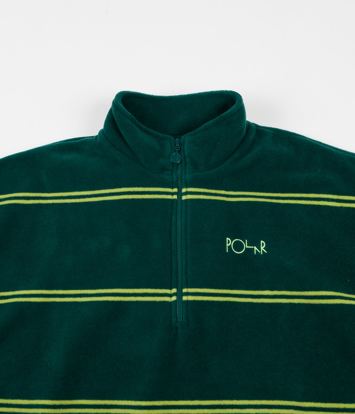 Polar Striped Fleece Pullover 2.0 Sweatshirt - Dark Green