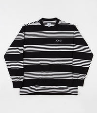 Polar Striped Long Sleeve T-Shirt - Black