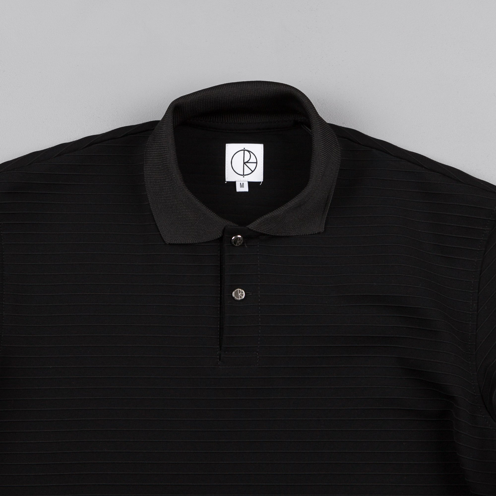 Polar Striped Pique Shirt - Black