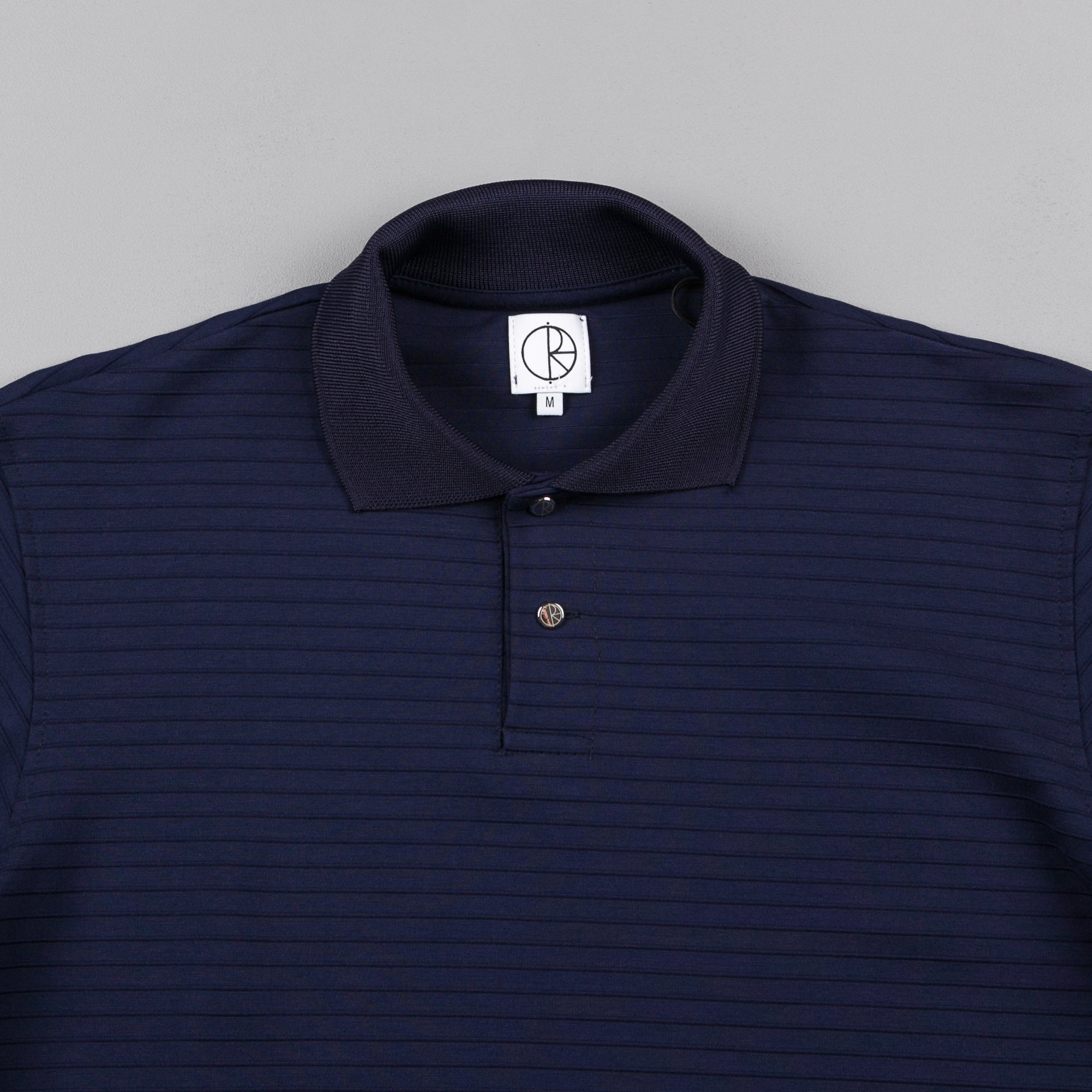 Polar Striped Pique Shirt - Navy