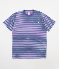 Polar Striped Pocket T-Shirt - Violet / Mint