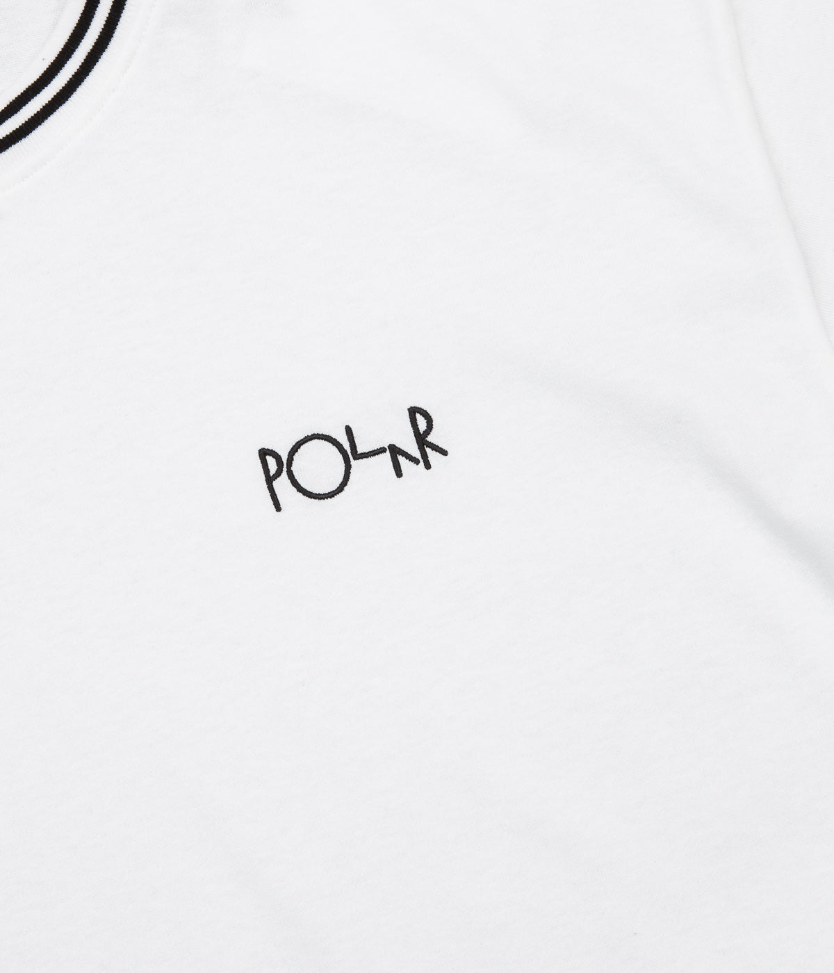 Polar Striped Rib Long Sleeve T-Shirt - White / Black